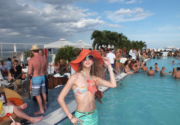 The 1 Hotel South Beach pool (former perry hotel miami)